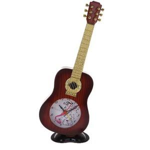 Будильник гитара на подставке с музыкой