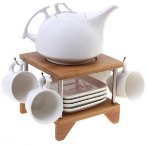 Чайный набор из  9 предметов декорированный деревом