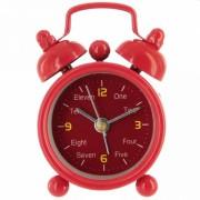 Часы будильник очень маленький красный
