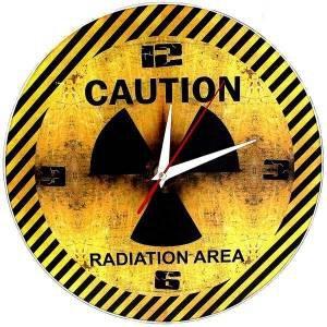 """Часы """"Caution"""" радиация"""