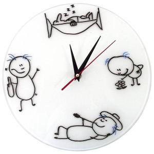 """Часы """"Нарисуй сам"""" стеклянные"""
