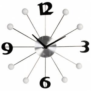 Часы настенные черные цифры