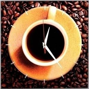Часы настенные кофе
