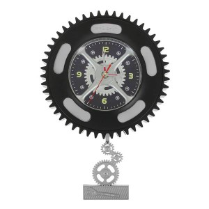 Часы настенные Колесо с маятником шестеренки