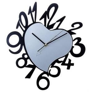 Часы настенные Сердце обрамленное большими цифрами