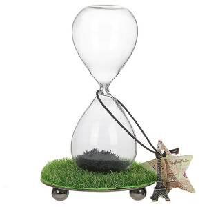 Часы песочные с травкой