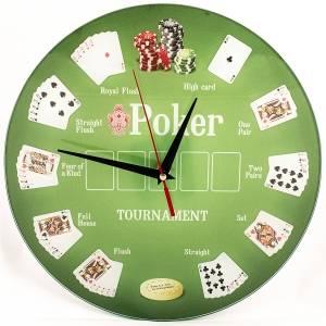 Часы Покер стеклянные