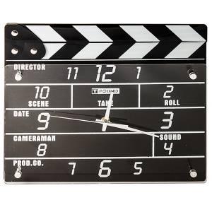 Часы режиссерские кинохлопушка настенные