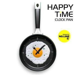 Часы сковорода с яичницей пластик