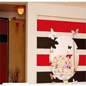 Декоративное зеркало настенное бабочки 00686 акрил