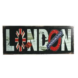 Деревянная вывеска London