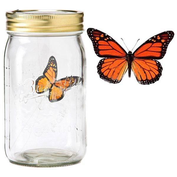Электронная бабочка в банке Монарх