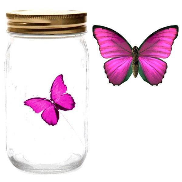 Электронная бабочка в банке Розовый Морфо