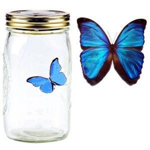 Электронная бабочка в банке Синий Морфо