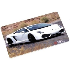 """Флешка кредитка 8gb """"Lamborghini"""" белая"""