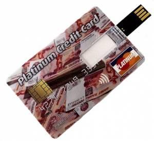 Флешка USB кредитка 8 Гб