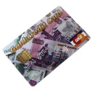 Флешка USB кредитка 8Gb рубли