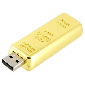 Флешка USB Слиток Золота 16 GB