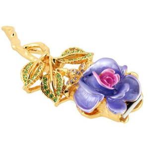 Флешка ювелирная Роза 8Gb