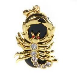 Флешка ювелирная Знак Зодикак Скорпион 8Gb
