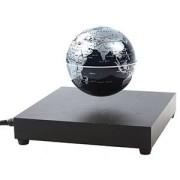 Глобус черно-серебряный на магнитном поле