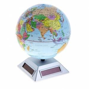 Глобус вращающейся от солнечной батареи