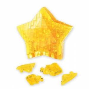 "Головоломка 3D пазл Звезда желтая ""Сrystal puzzle"""