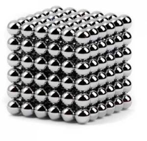Головоломка NeoCube - мини 6мм 216 сфер (Нео куб) серебро