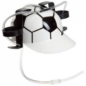 Каска с подставкой под банки Футбол
