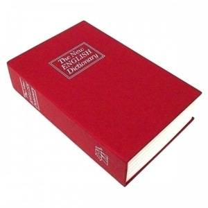 Книга сейф Английский словарь Красная средняя