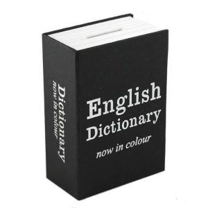 Книга сейф Английский словарь Мини Черная