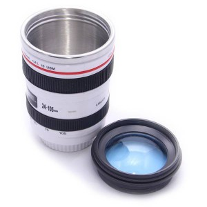 Кружка объектив KD-M12 сталь белая линза