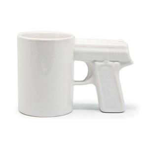 """Кружка """"Пистолет"""" белая"""