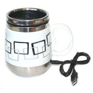 Кружка USB (Малые квадраты) металлическая крышка