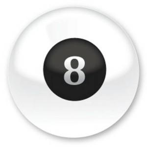 Магический шар ответов Magic 8 ball Белый