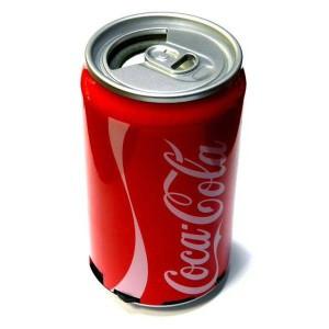 Музыкальная колонка в виде банки Coca-cola