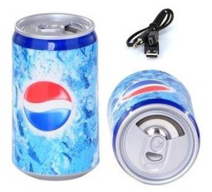 Музыкальная колонка в виде банки Pepsi