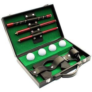 Набор для игры в гольф кожаный