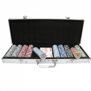 Набор для покера 500 фишек в кейсе + сукно