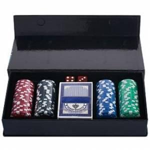Набор для покера на 100 фишек в подарочной коробке