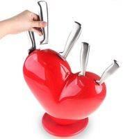 Набор ножей с подставкой Сердце