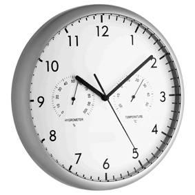Настенные часы с термометром и гидрометром