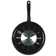 Настенные часы сковорода черная