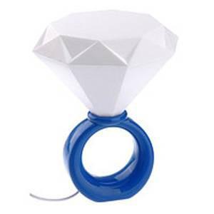 Ночник кристалл Кольцо с бриллиантом синий