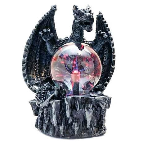 Плазма-шар черный дракон