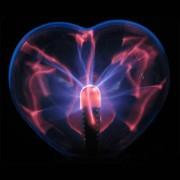 Плазма колба в виде сердца