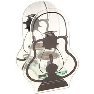 Подсвечник стекло 1 свеча Лампа