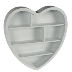 Полка в виде сердечка настенная 31 x 31 x 6 см