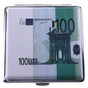 Портсигар деньги евро 100