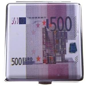 Портсигар деньги евро 500